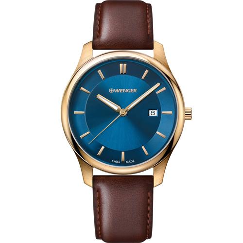 瑞士WENGER City 城市系列 經典簡約紳士腕錶 01.1441.119