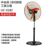【南紡購物中心】【中央興】18吋 伸縮式風扇/電風扇(鐵製底座) UC-S183(其他)