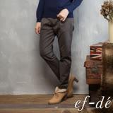 【ef-de】激安 壓摺紋裸踝素色長褲(軍綠/深藍)