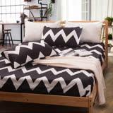Carolan-黑&白床包枕套組(全尺寸任選)