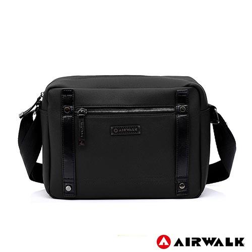 AIRWALK -英倫風華黑金側背包-黑色