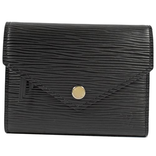 Louis Vuitton LV M62173 VICTORINE EPI水波紋皮革零錢中短夾.黑 現貨