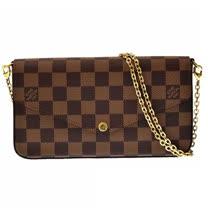 Louis Vuitton LV N63032 Pochette Félicie 棋盤格紋鍊條斜背小提包 現貨