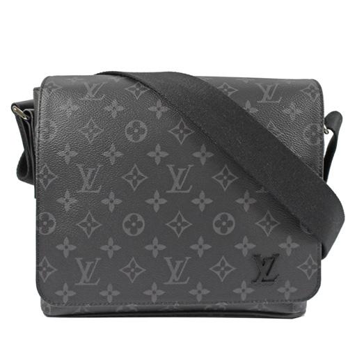 Louis Vuitton LV M44000 DISTRICT PM 黑經典花紋斜背包 現貨