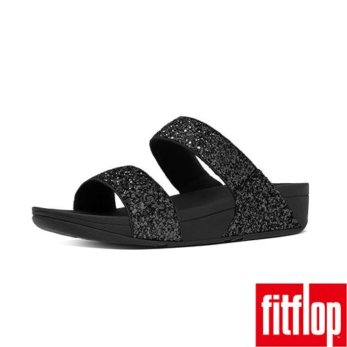 FitFlop TM-GLITTERBALL TM SLIDE-黑