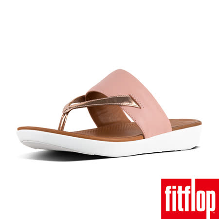 FitFlop DELTA TM TOE-THONG SANDALS LEATHER / MIRROR 粉/金
