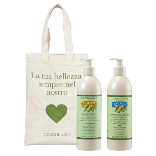 蕾莉歐 橄欖舒活組 保濕沐浴乳 500ml+洗髮精 500ml(附提袋)