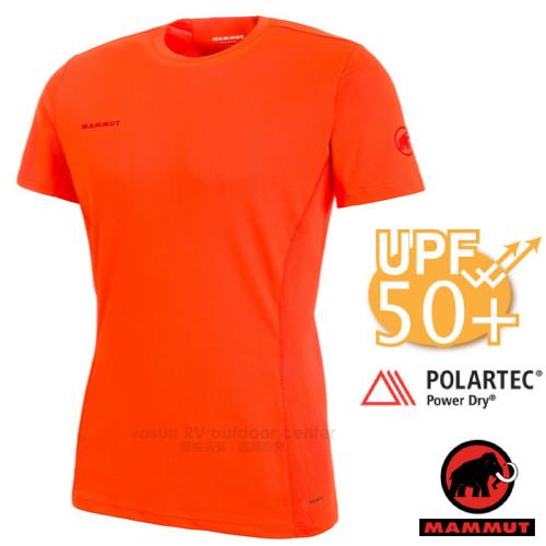 【瑞士 MAMMUT 長毛象】Sertig T-Shirt 男新款 短袖圓領多功能排汗上衣(UPF50抗UV).彈性運動T恤/Power Dry吸濕快乾/00110-2142 深橙