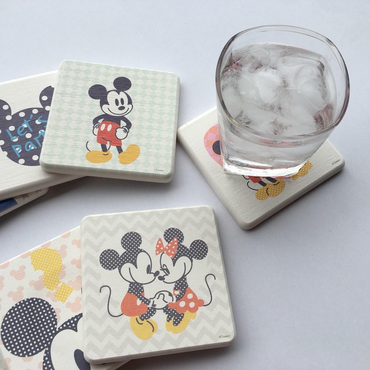【迪士尼Disney授權】普普風吸水珪藻土杯墊 11款設計(一組2入)
