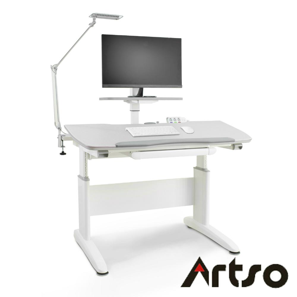 【Artso亞梭】舒活桌(DA桌)桌板120cm 含可調式層架、電源夾