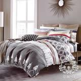 AGAPE亞加•貝【星旅樂園】雙人5x6.2尺四件式精梳純棉涼被床包組-床包加高35cm