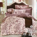 AGAPE亞加•貝【優雅浪漫】雙人5x6.2尺四件式精梳純棉涼被床包組-床包加高35cm
