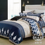 AGAPE亞加•貝【藍旅樂園】雙人5x6.2尺四件式精梳純棉涼被床包組-床包加高35cm