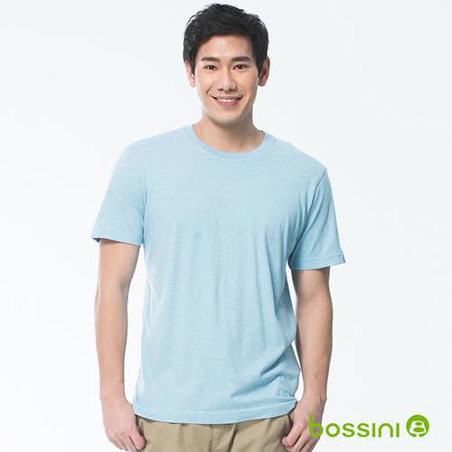 bossini男裝-素色純棉圓領T恤01淡藍(品特)