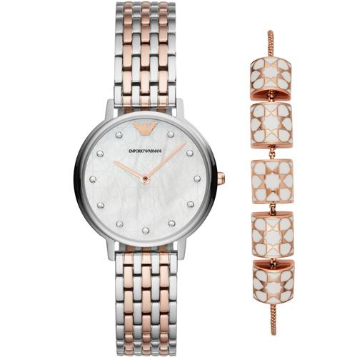 Armani 流星許願琉璃珠風格套錶組合 AR80016