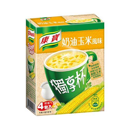 康寶奶油風味獨享杯玉米18G*4