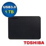 TOSHIBA Canvio Basics 黑靚潮lll 1TB 2.5吋行動硬碟(HDTB410AK3AA)
