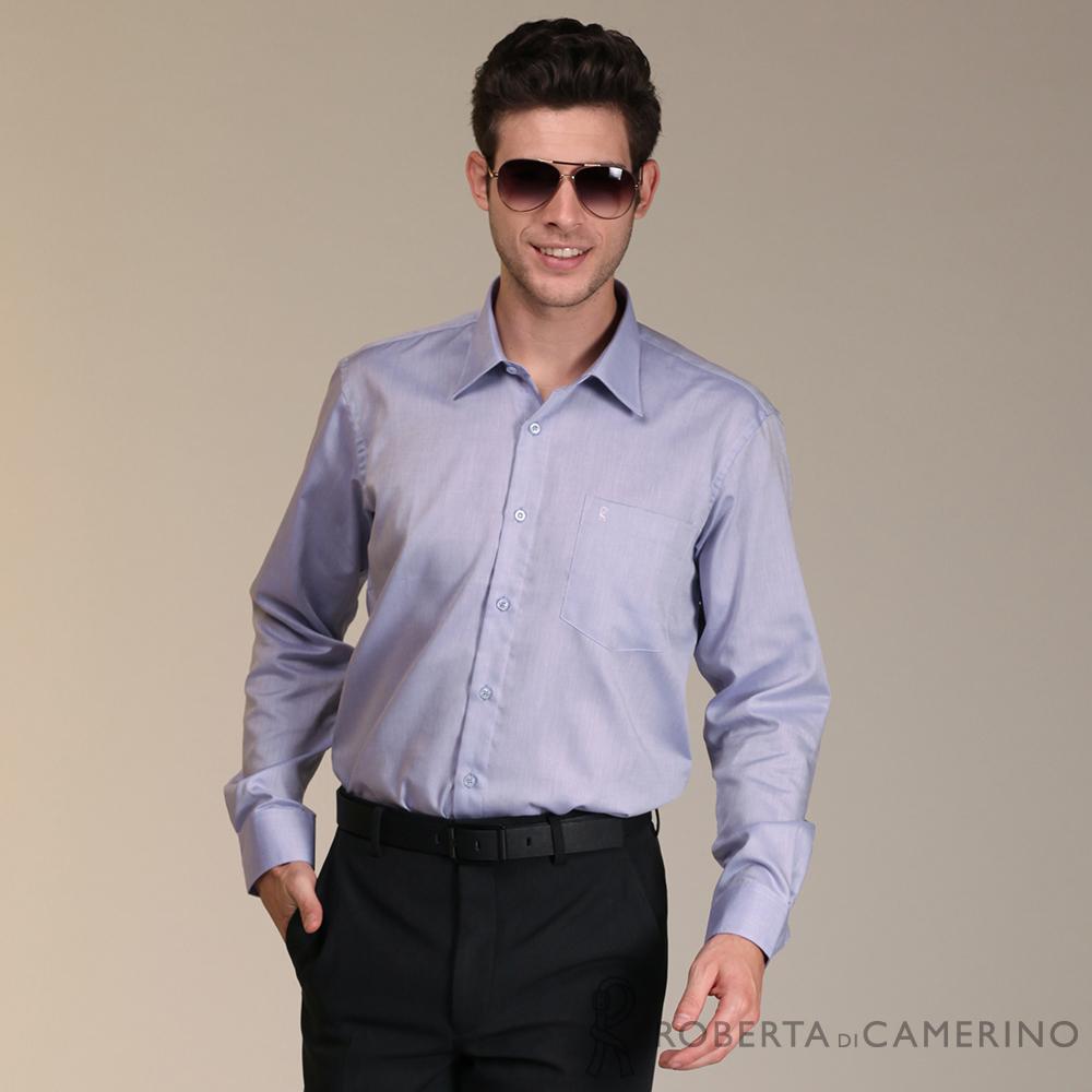 ROBERTA諾貝達 進口素材 台灣製 純棉免燙長袖襯衫 紫色