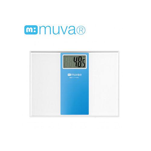 muva繽紛樂電子體重計(晴空藍/櫻花粉)