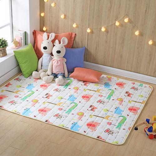 IN HOUSE - Zoo keeper100%純棉遊戲墊(藍-150x180cm)