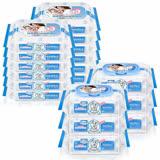 貝恩Baan NEW嬰兒保養柔濕巾80抽6入+貝恩Baan NEW嬰兒保養柔濕巾20抽12入