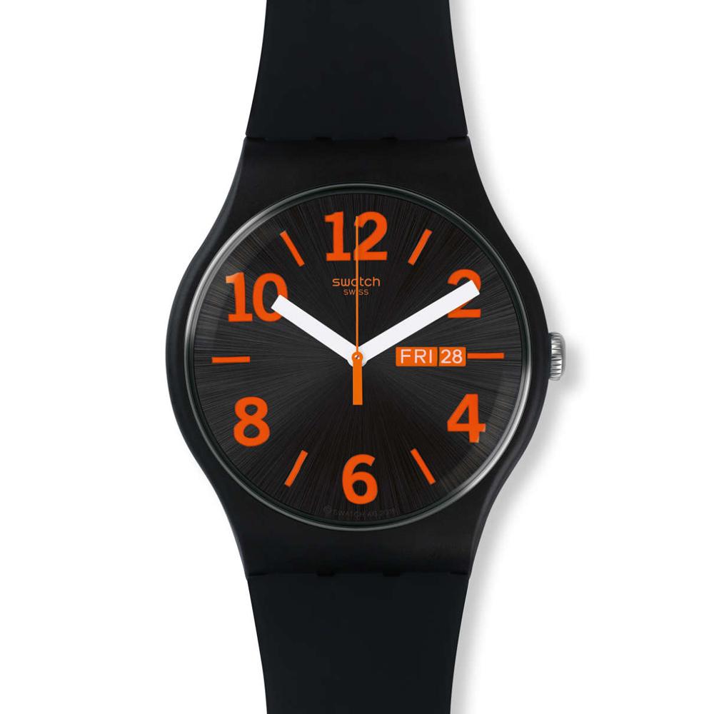 Swatch   引人注目跳色石英腕表   SUOB723