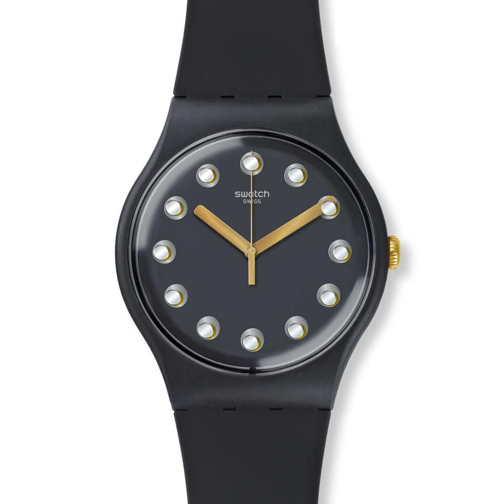 Swatch 都會時尚圓點環繞石英腕表   SUOM104