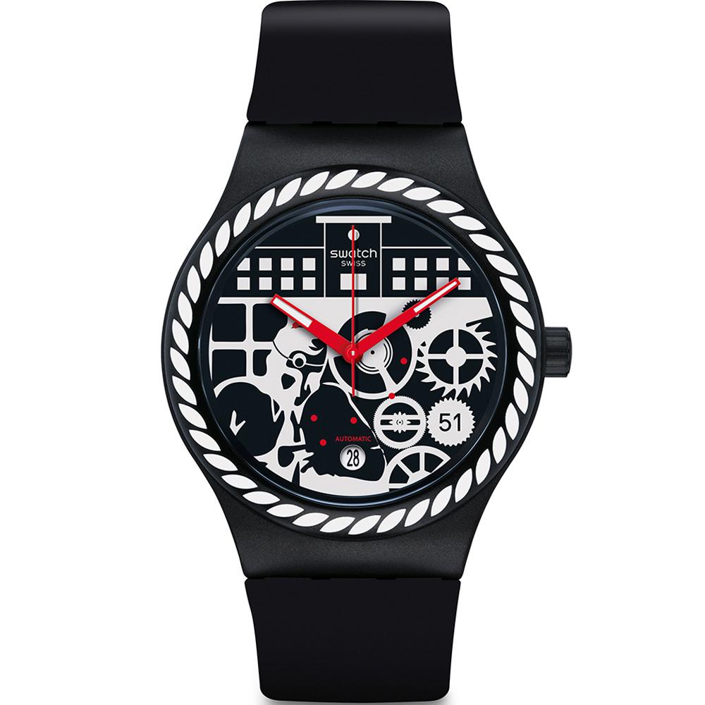Swatch  製錶工藝經典透視雙面腕表   SUTB404