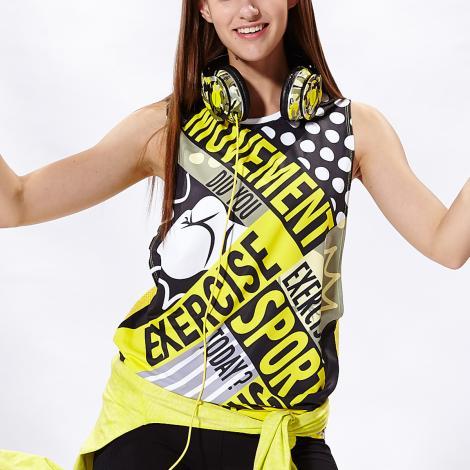 TOUCH AERO 挖袖數位印花罩衫TA623(商品圖不含內搭/男女皆適宜)