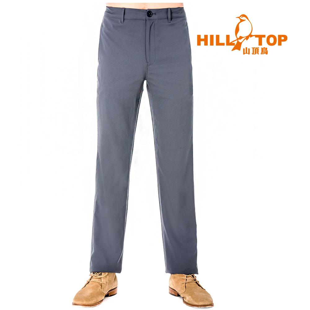 【hilltop山頂鳥】男款吸濕排汗抗UV彈性長褲S07MB0-印墨