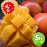 【買一送一】築地一番鮮 產地嚴選優質愛文芒果5斤裝/盒/10-13顆(加贈5斤共10斤)