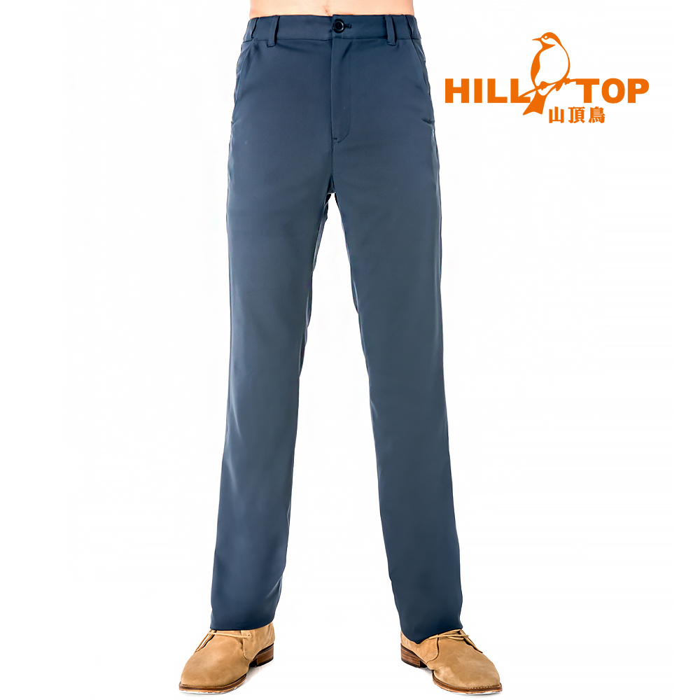 【hilltop山頂鳥】男款抗UV超潑水彈性長褲S07MB6-藍莓