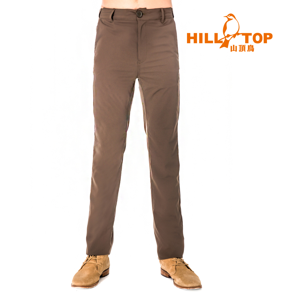【hilltop山頂鳥】男款吸濕排汗抗UV長褲S07MB7-雀咖啡