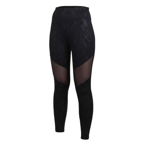 (女) SOFO 九分韻律褲-有氧 瑜珈 慢跑 路跑 長褲 緊身褲 黑