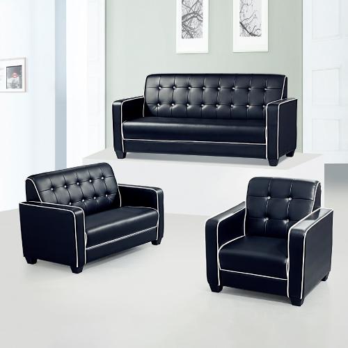 AS-貝絲黑色沙發組1+2+3