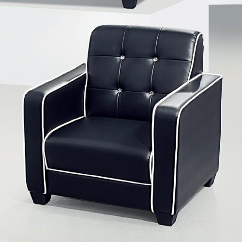 AS-貝絲黑色單人座沙發-90x86x97