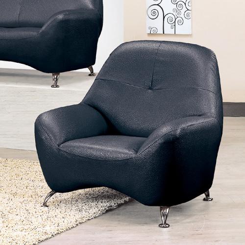 AS-艾莉絲黑色單人沙發座-95x80x92cm