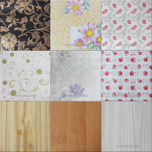 中國印花木紋含膠 即時貼壁紙(9款任選)
