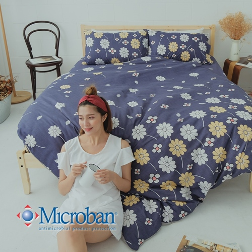 Microban《夏夜花火》美國抗菌雙人四件式兩用被床包組