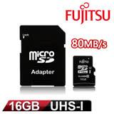 Fujitsu 16GB MicroSDXC UHS-I Class10 記憶卡