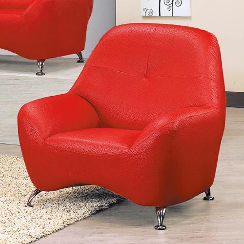 AS-艾莉絲紅色單人沙發座-95x80x92cm