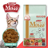 【萬倍富】莫比Mobby 夾鏈袋新包裝 鹿肉鮭魚貓 無穀貓配方3KG