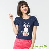 bossini女裝-印花短袖T恤32海藍