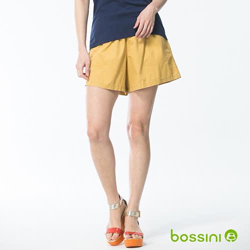 bossini女童-素色輕便褲裙01淺黃
