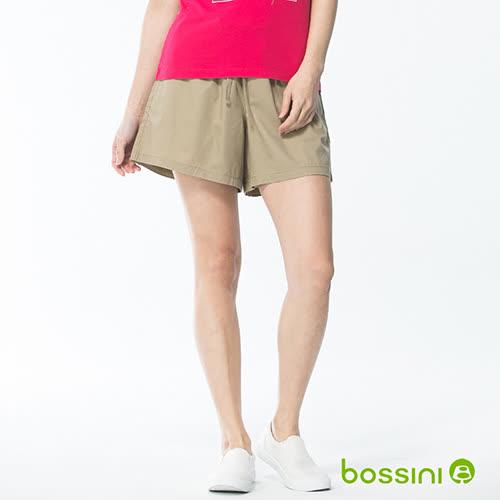 bossini女童-素色輕便褲裙01卡其