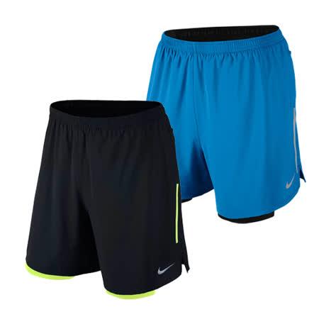 NIKE 男款假兩件慢跑褲 路跑褲 籃球褲 馬拉松褲 反光/口袋 運動褲 @(3280)