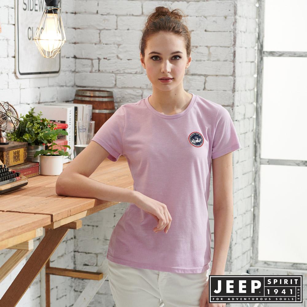 JEEP女裝極簡短袖T恤