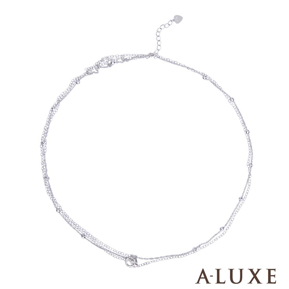 A-LUXE 亞立詩 鉑金PT950 經典珠腳鍊