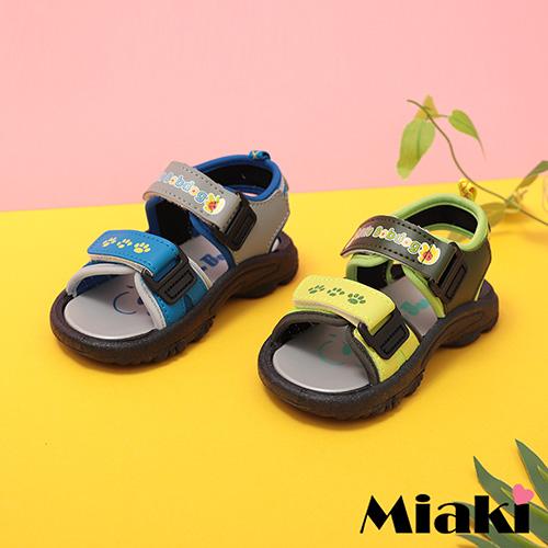 【Miaki】童鞋.可愛造型輕底休閒涼鞋  (綠色 / 藍色)