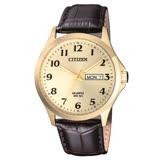 CITIZEN 星辰 光動能晶鑽指針女錶 不鏽鋼錶帶 藍寶石玻璃 施華洛世奇水晶 防水50米 BF5002-05P